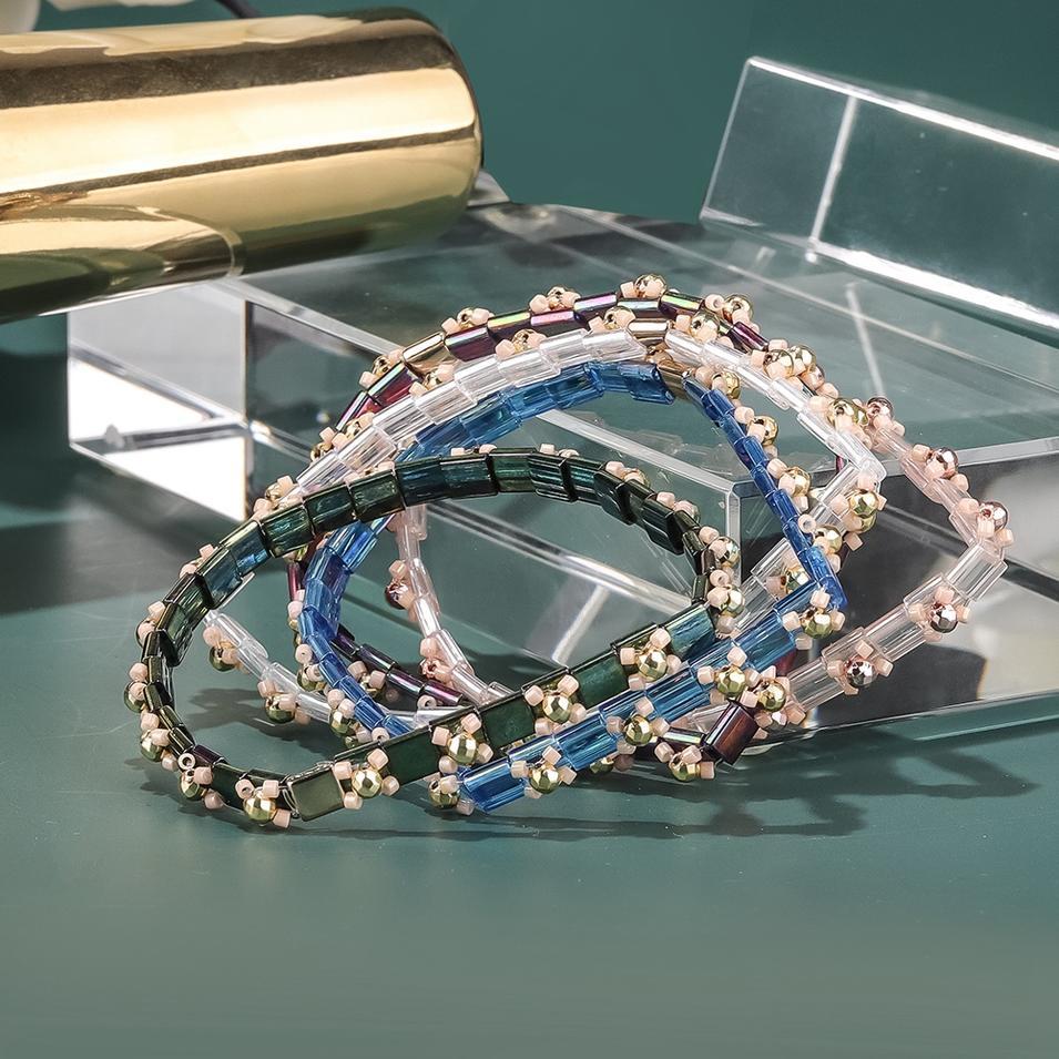 2020 Newest Design Hematite Mixed Miyuki Seed Beads Tila Braceelt Women Jewelry