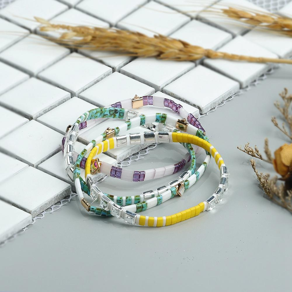 Fashion Colorful Czech Crystal Tila Beads Handmade Jewelry Wholesale Bracelet