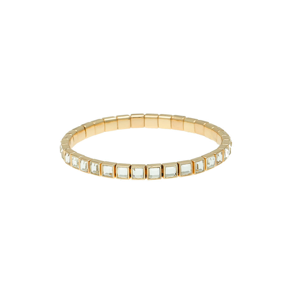 Women Jewelry Square / Diamond / Oval Shaped Wholesale Bracelet Gold / Silver Plated