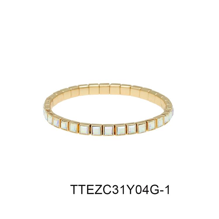 Women Jewelry Square / Diamond / Oval Shaped Wholesale Bracelet Gold / Silver Plated