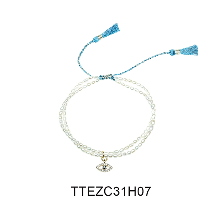 TTT Jewelry Wholesale Jewellry Pearl Style Colorful Knot Fashion Tassel Charm Bracelets