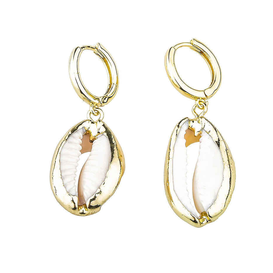 Wholesale Jewelry Gold-Plated Bright Color Zircon Style Women Copper Earrings