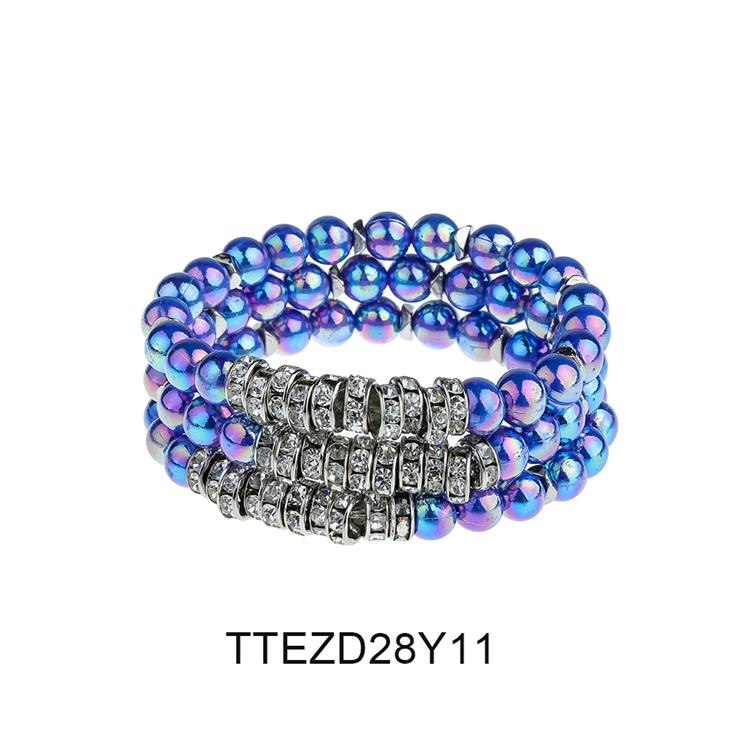 Women Jewelry Chaiming Dazzle Bright Colorful 3Pcs/Set Wholesale Beads Bracelet