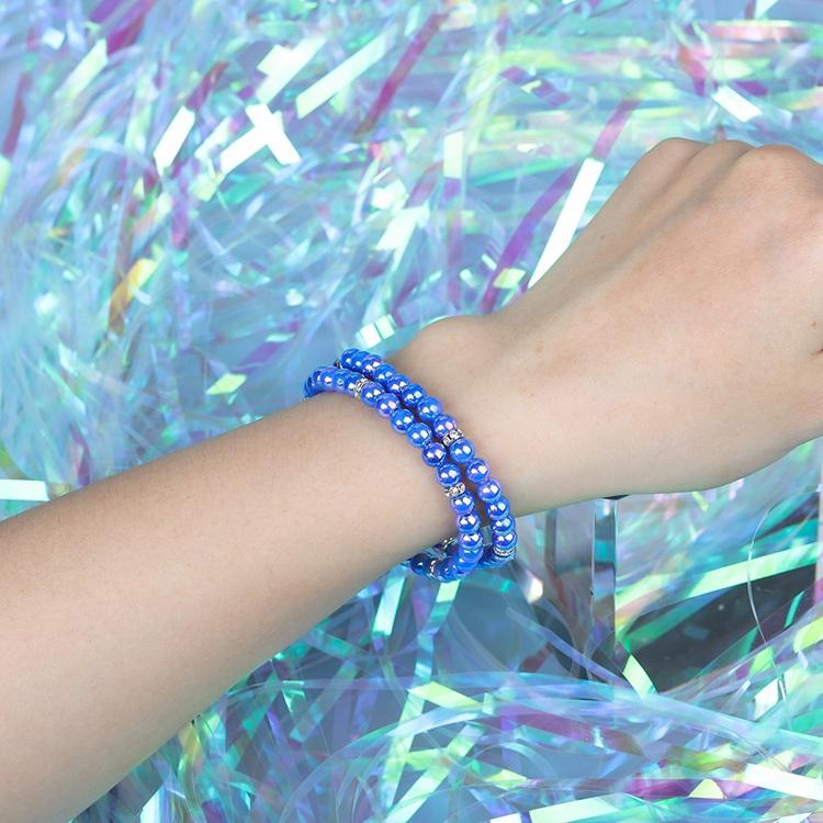 Fashion Popular 2Pcs/Set Handmade Charming Bracelet Plastice Beads Wholesale Women Jewelry