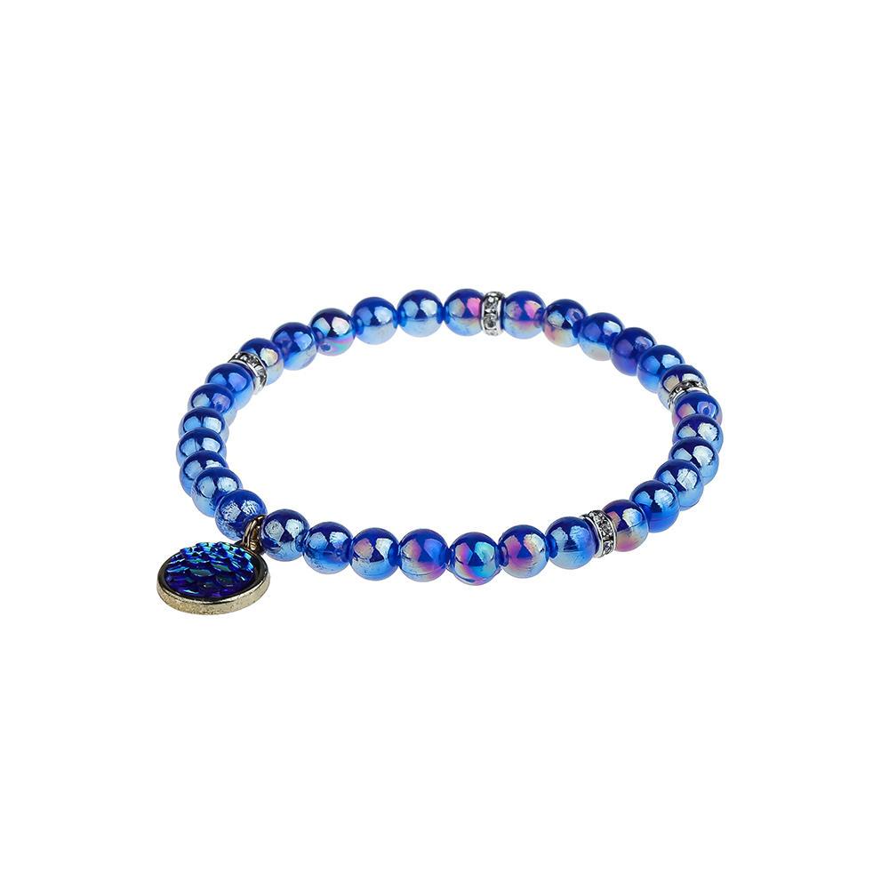 Charming Friendship Dazzle Bright Color Plastic Beads Wholesale Bracelet Women Jewelry