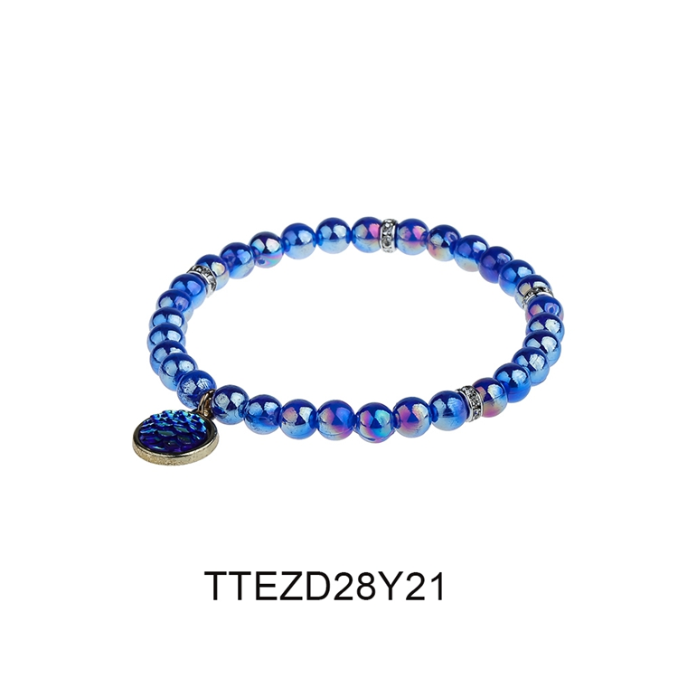 Charming Friendship Dazzle Bright Color Plastic Beads Wholesale Bracelet Women Jewelry