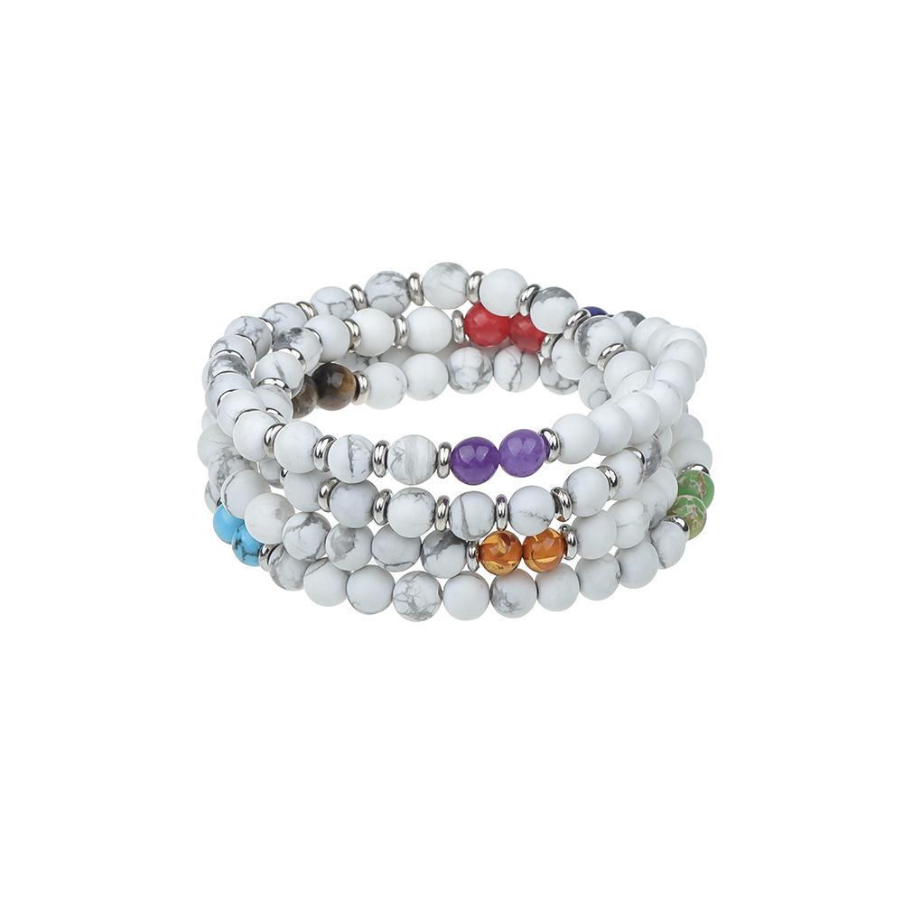 Wholesale Customized Natural Stone Couple Style 108 Beads Mala Bracelets