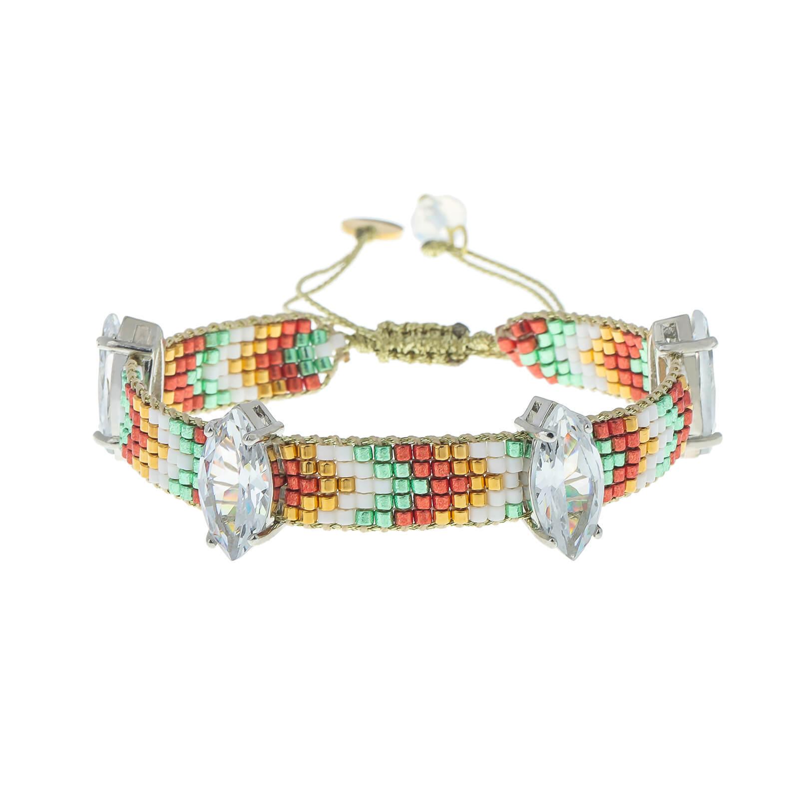 Horse eye Miyuki delica bead bracelet for women