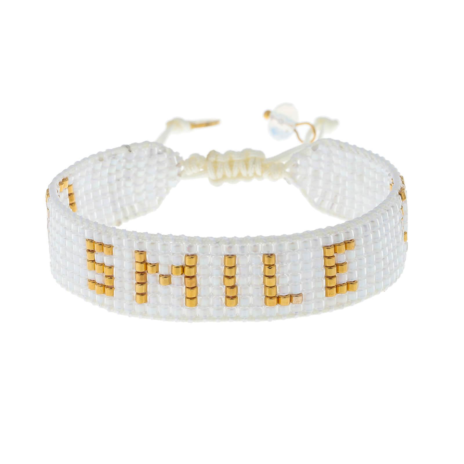 Letter Miyuki seed bead friendship bracelet