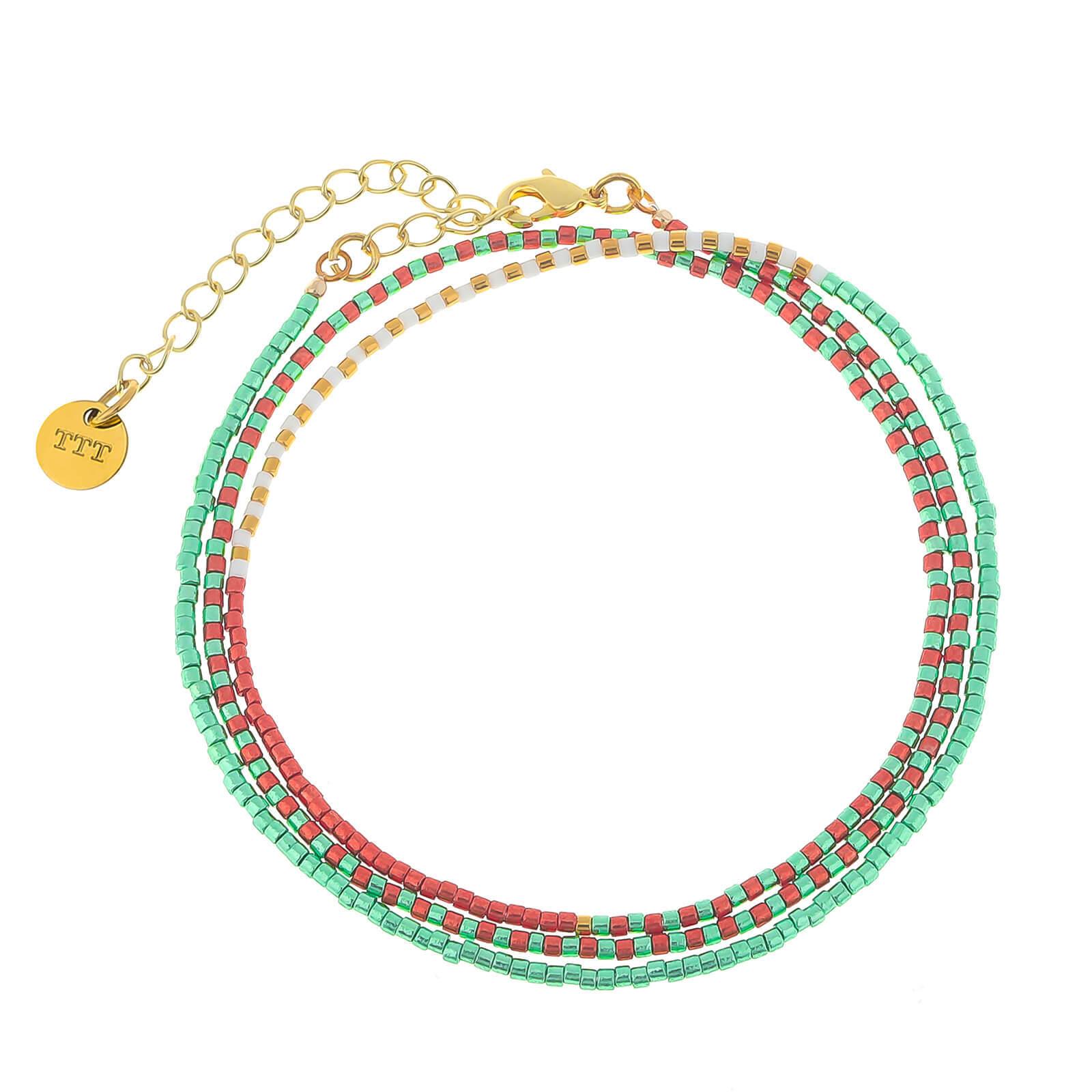 3 Layer Rainbow Wrap Miyuki Bead Bracelet