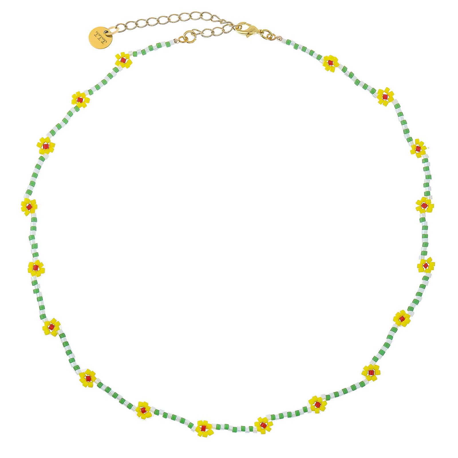 Daisy Miyuki bead necklace