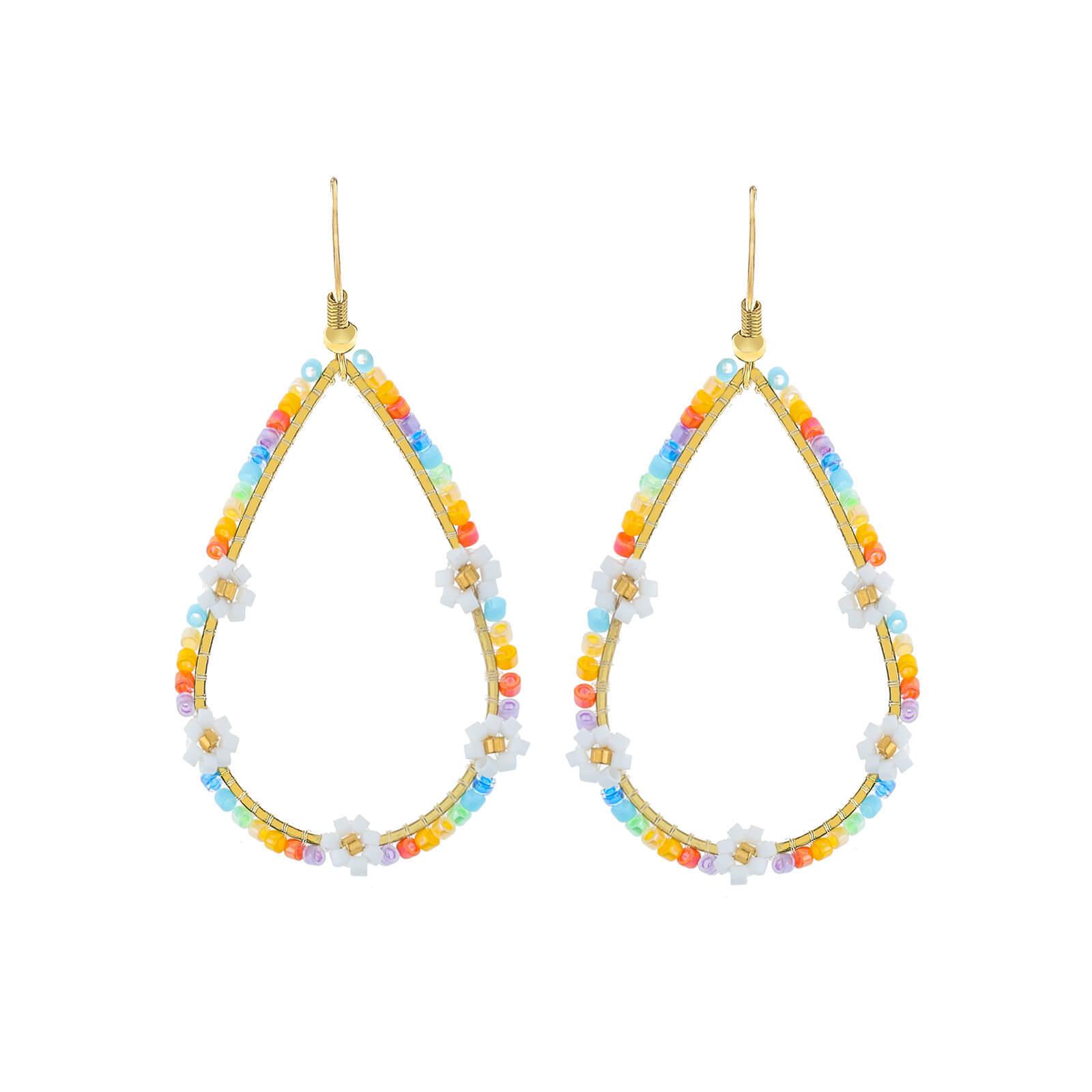 Daisy Miyuki bead earring