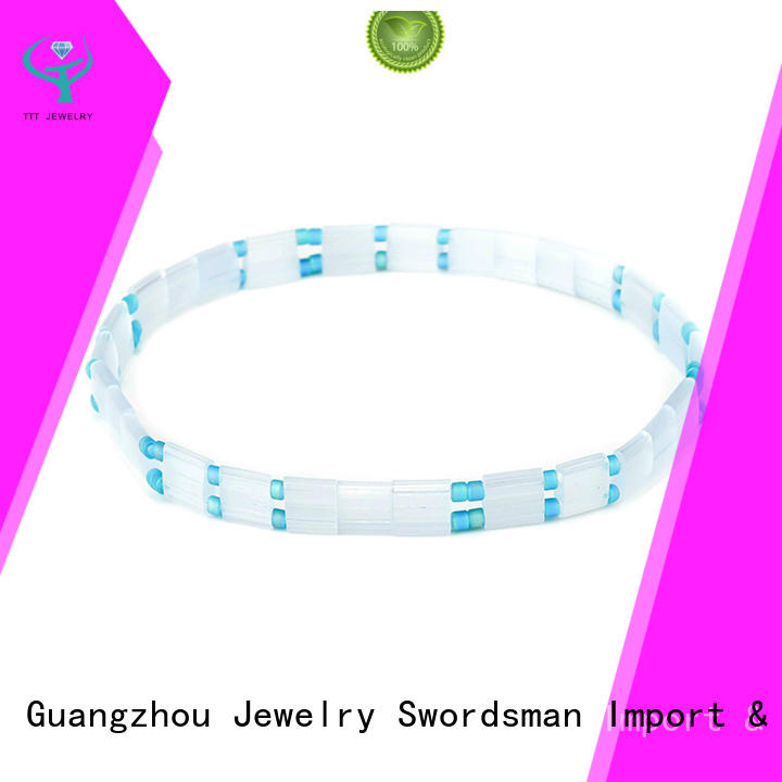 TTT Jewelry eco-friendly beading patterns with tila beads export worldwide for wedding