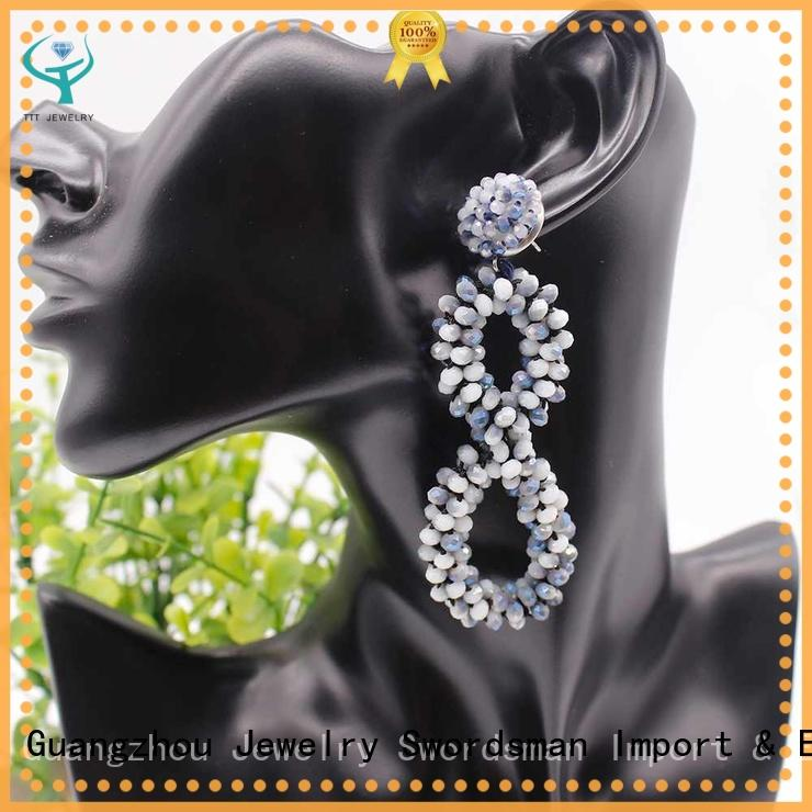 professional crystal earrings for sale cluster international market for wholesale
