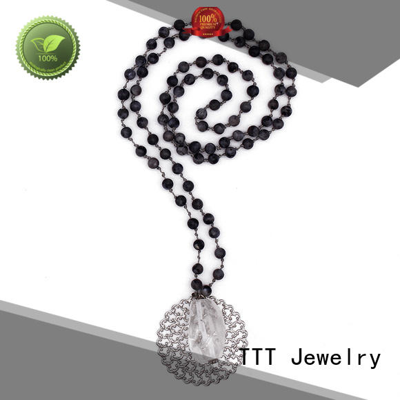 stone meaningful TTT Jewelry Brand personalized pendant necklace factory