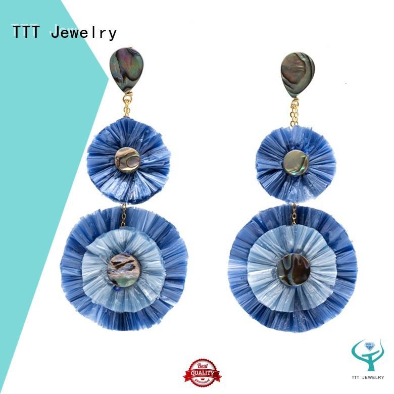 TTT Jewelry Brand handcrafted raffia earrings wholesale earrings