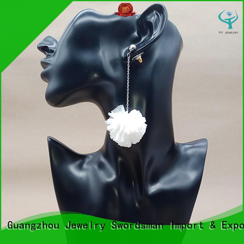 Bohemia Chic Spherical Raffia Drop Earrings Wholesale Handmade