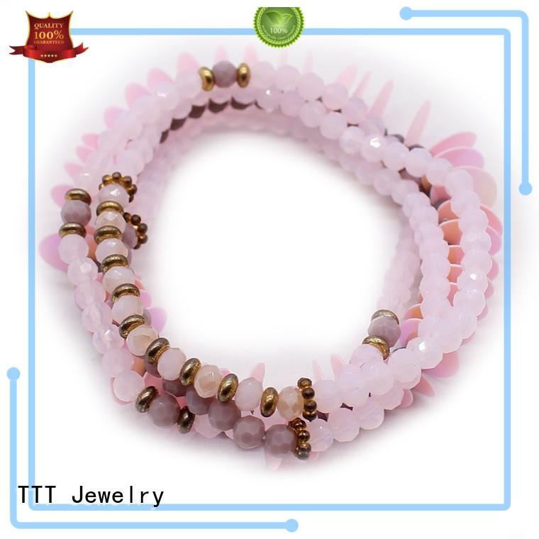handmade swarovski crystal cuff bracelet leather TTT Jewelry company