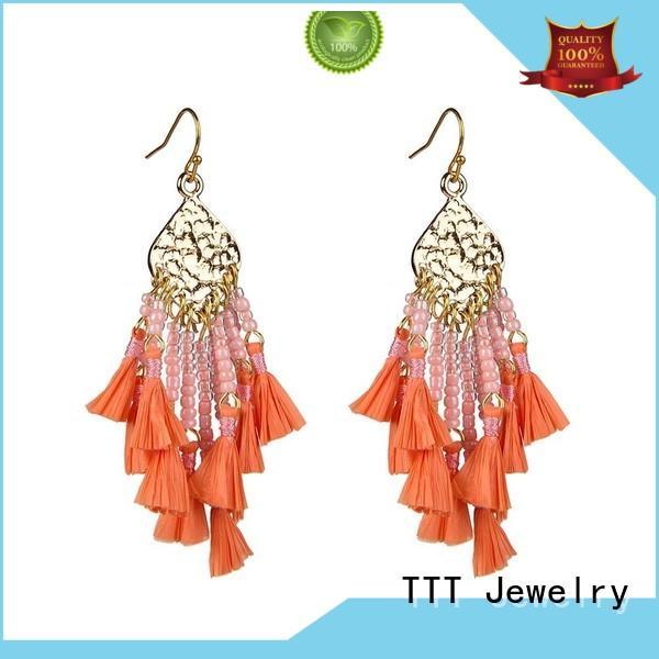 glass jewelry glass earrings beaded TTT Jewelry Brand company