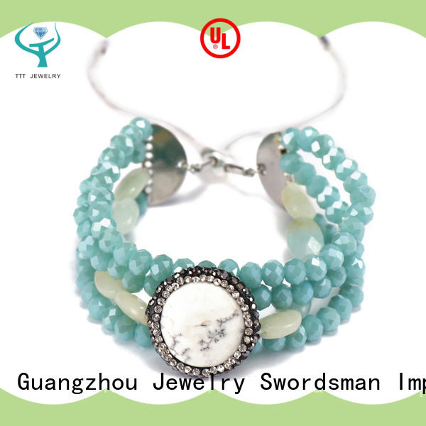 TTT Jewelry elegant crystal link bracelet awarded supplier for small business