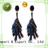 royal blue crystal earrings hook handmade crystal earrings manufacture