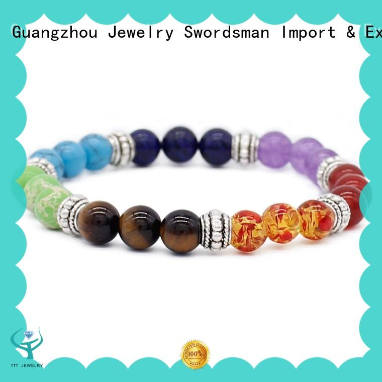 customized green chakra bracelet artesanales solution expert for trader