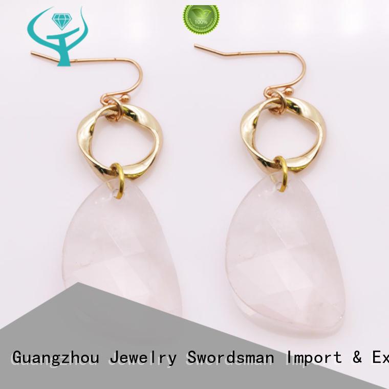 TTT Jewelry pendant amber stone earrings manufacturer for trader