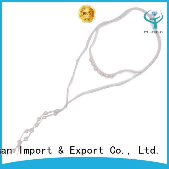 Pearl Leather Necklace Handmade Wholesale