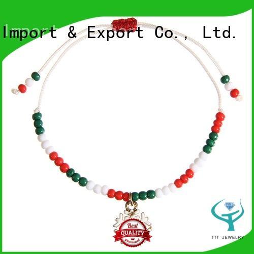 Wholesale Handmade Christmas Gift Charms Bracelet For Kids