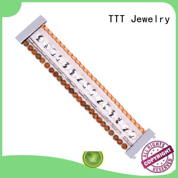 gemstone bracelets stone clasp TTT Jewelry Brand