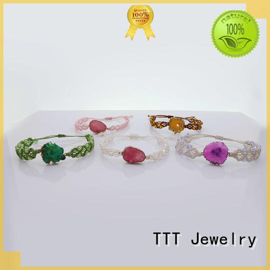 genuine crystal bead bracelets leather bracelet TTT Jewelry company