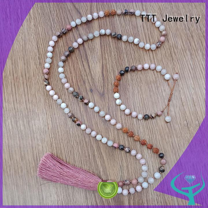 bridal necklace mala meditation metal Warranty TTT Jewelry