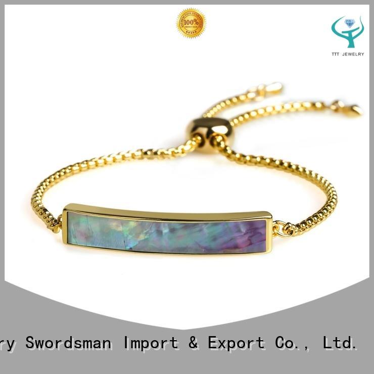 custom silver bracelet manufacturer for gift