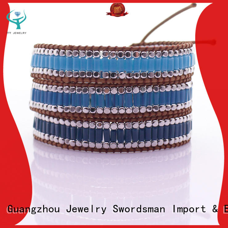 TTT Jewelry jasper chan luu wrap bracelet exporter for global market