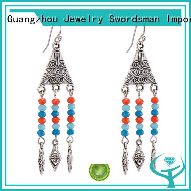 trustworthy long crystal earrings dangle international market for wholesale