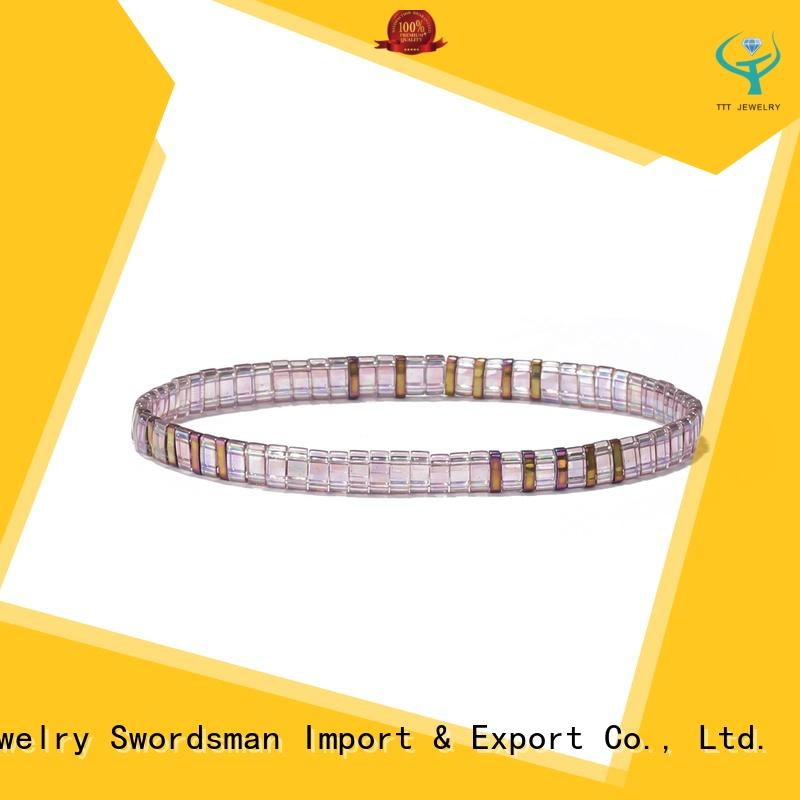 crystal african beaded bracelets wholesale for gift
