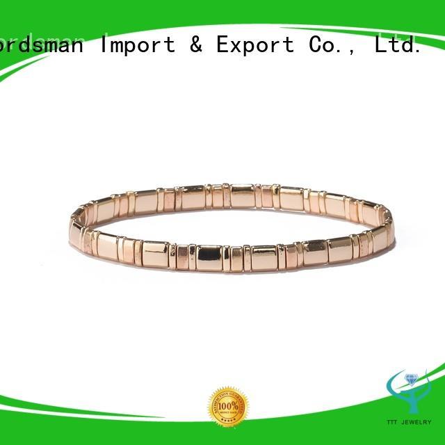 TTT Jewelry strict inspection tila bead bracelet overseas market for distribution
