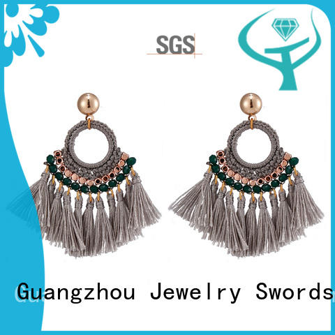 TTT Jewelry gold red tassel earrings solution expert for e-commerce
