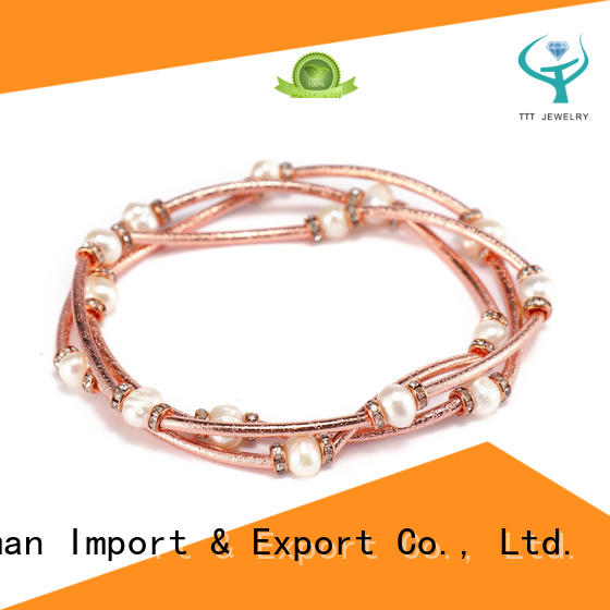 Handmade Mutilayer Copper Pearl Bracelet For Women