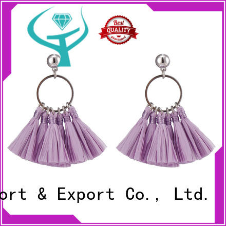 crazy price raffia earrings plastic bulk purchase for gift
