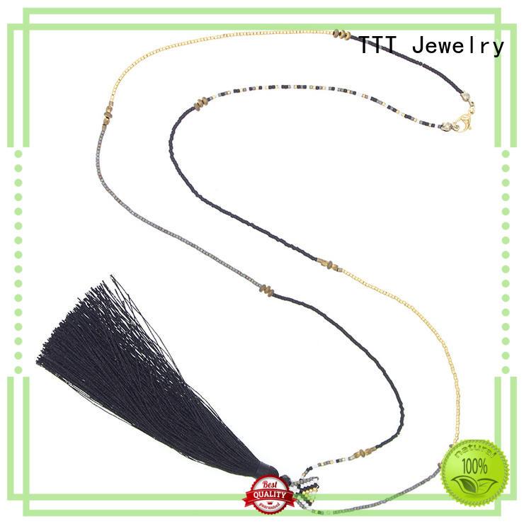 fashion jewelry necklaces tassel TTT Jewelry Brand miyuki necklace