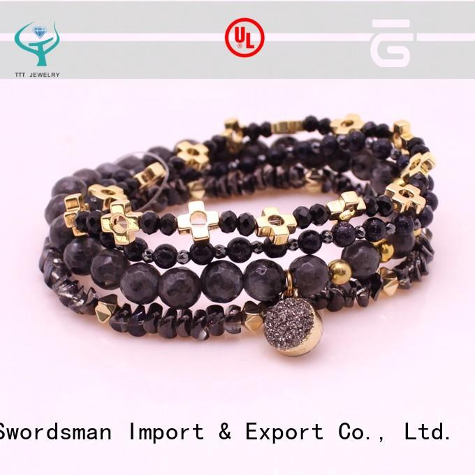 TTT Jewelry competitive price glass stone bracelet great deal for trader
