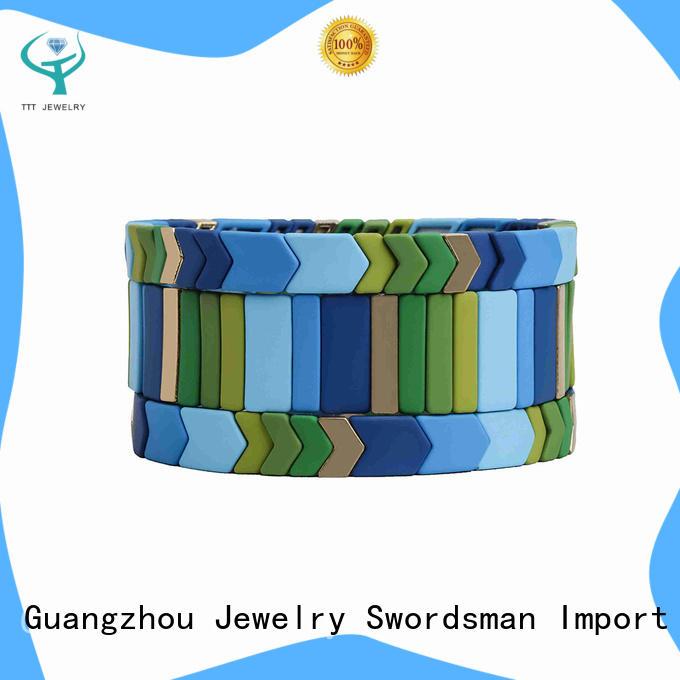 TTT Jewelry letter enamel bracelet solution expert for reseller