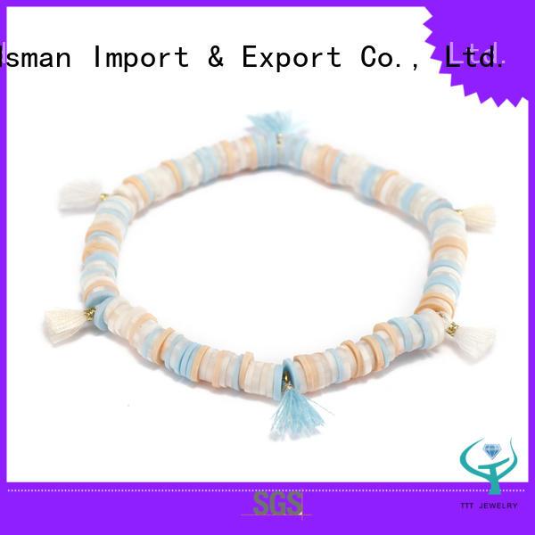 Handmade Plastic Pieces Tassel Bracelet