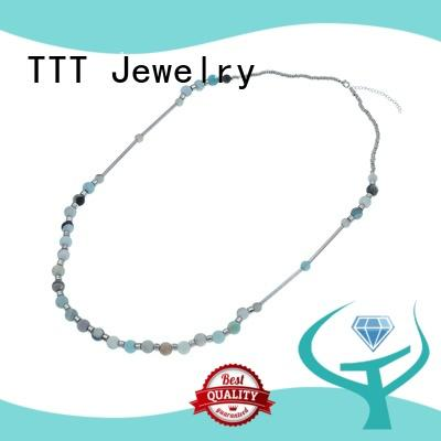 Wholesale necklace stone stone pendant necklace TTT Jewelry Brand