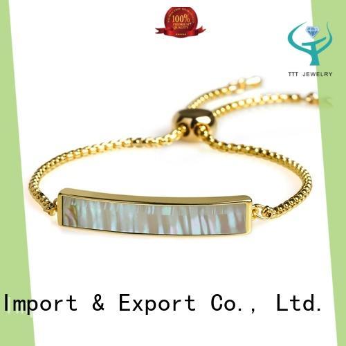 TTT Jewelry custom sterling silver bangle bracelets export worldwide for gift