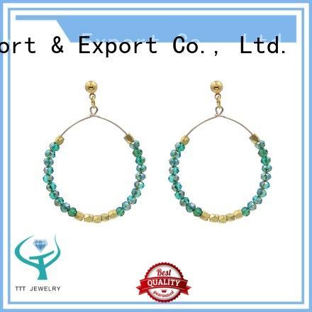 blue stone earrings stone pendant crystal Warranty TTT Jewelry