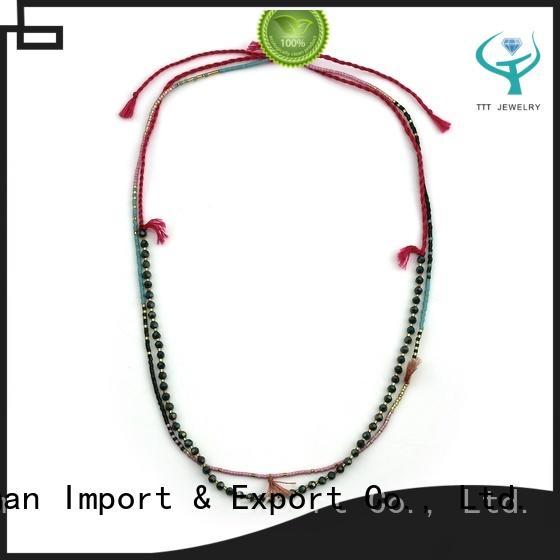 Dynamic Tiny Tassel Long Beaded Necklace
