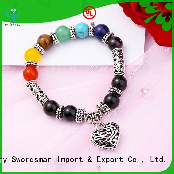 Wholesale Handmade Chakra Bracelet Lava Bracelet For Men