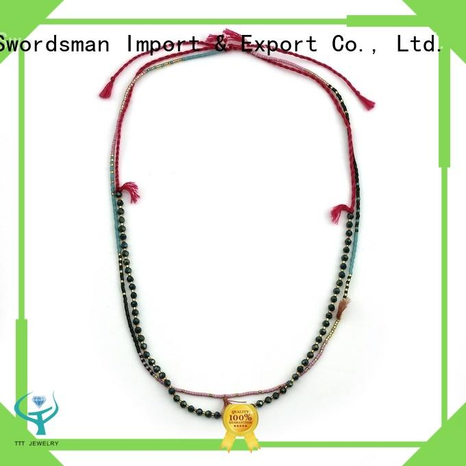 TTT Jewelry beaded miyuki necklace from China for distribution